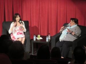 Illeana Douglas and MoMA Film Curator Anne Morra